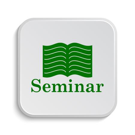course development: Seminar icon. Internet button on white background.