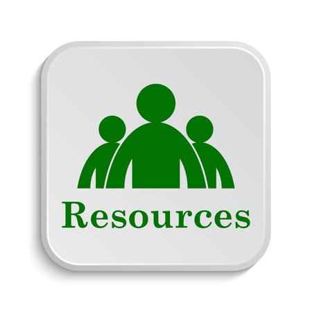 Resources icon. Internet button on white background. Фото со стока