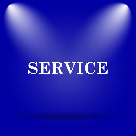 Service icon. Flat icon on blue background. photo
