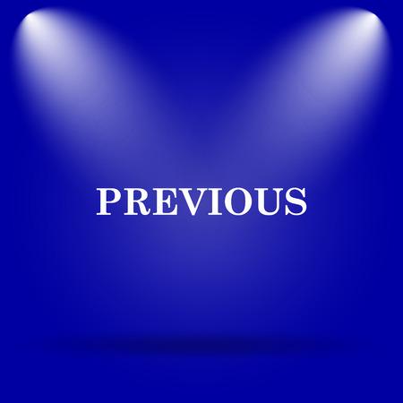 slideshow: Previous icon. Flat icon on blue background.