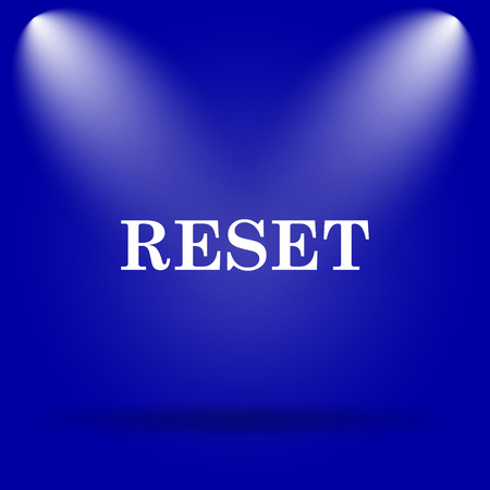 redesign: Reset icon. Flat icon on blue background.