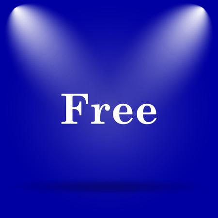 gratuity: Free icon. Flat icon on blue background. Stock Photo