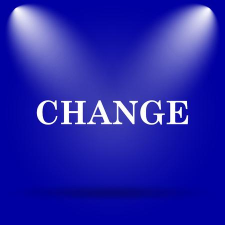 progression: Change icon. Flat icon on blue background.