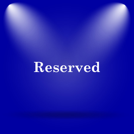 market place: Reserved icon. Flat icon on blue background. Stock Photo