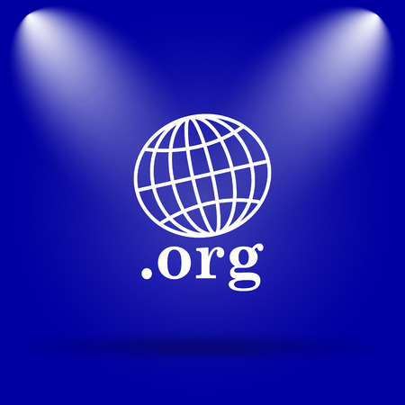 org: .org icon. Flat icon on blue background.