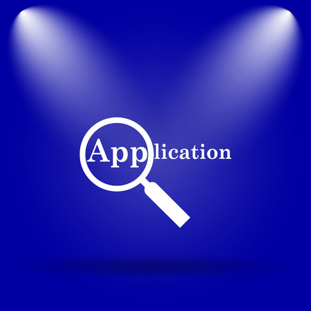 requisition: Application icon. Flat icon on blue background. Stock Photo