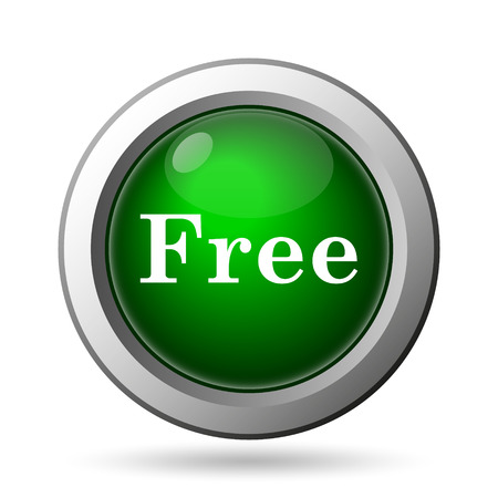 gratuity: Free icon. Internet button on white background