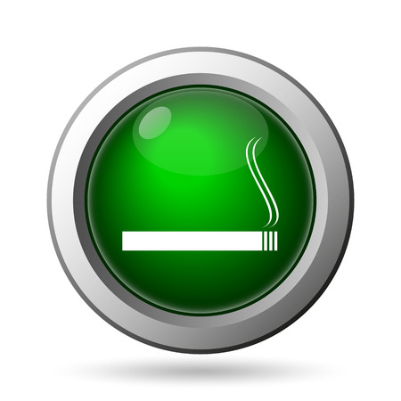 interdiction: Cigarette icon. Internet button on white background