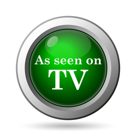 seen: As seen on TV icon. Internet button on white background