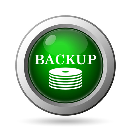 protected database: Back-up icon. Internet button on white background