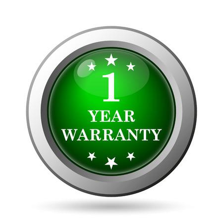 1 year warranty: 1 year warranty icon. Internet button on white background Stock Photo