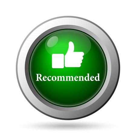 recommended: Recommended icon. Internet button on white background