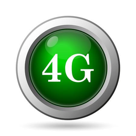 4g: 4G icon. Internet button on white background
