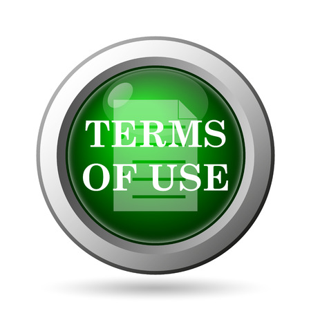 use regulation: Terms of use icon. Internet button on white background Stock Photo