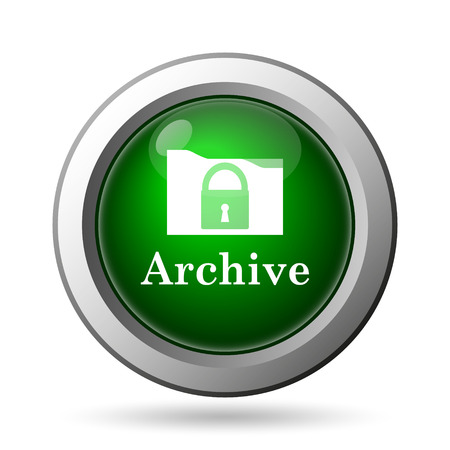 Archive icon. Internet button on white background Stock Photo