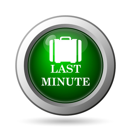advantageous: Last minute icon. Internet button on white background