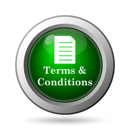 conditions: Terms and conditions icon. Internet button on white background