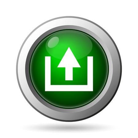 uploading: Upload icon. Internet button on white background