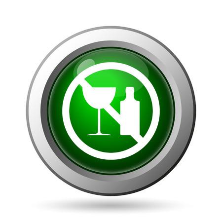 No alcohol icon. Internet button on white background photo