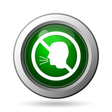 no talking: No talking icon. Internet button on white background