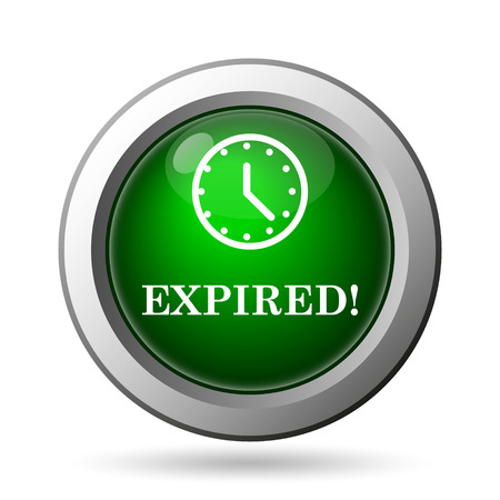 expired: Expired icon. Internet button on white background