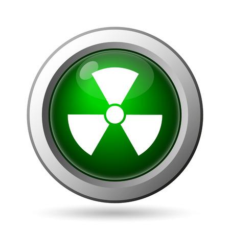 nuke: Radiation icon. Internet button on white background