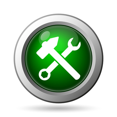 fitter: Tools  icon. Internet button on white background