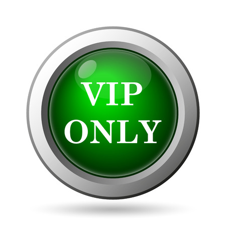 VIP only icon. Internet button on white background photo