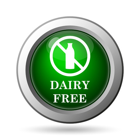 intolerant: Dairy free icon. Internet button on white background
