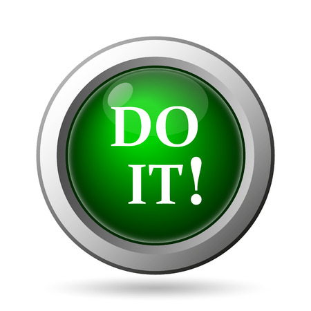 just do it: Do it icon. Internet button on white background Stock Photo