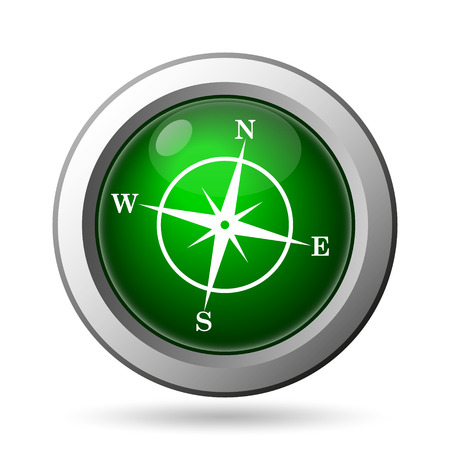 Compass icon. Internet button on white background photo