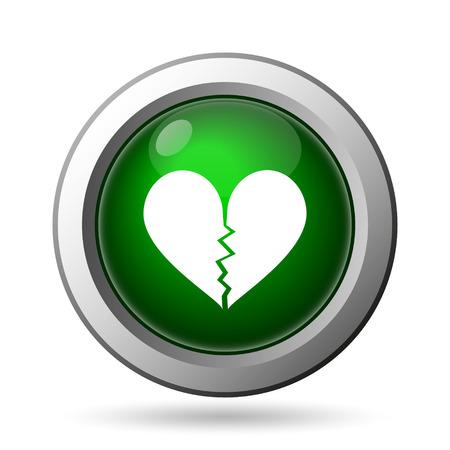 heartbreak: Broken heart icon. Internet button on white background