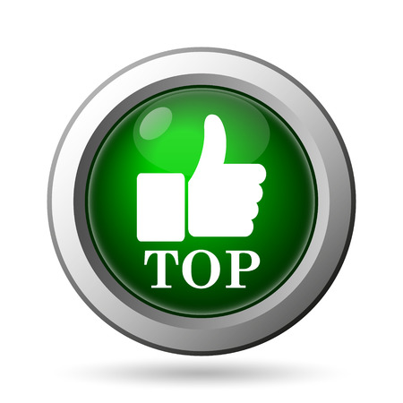 best rated: Top icon. Internet button on white background