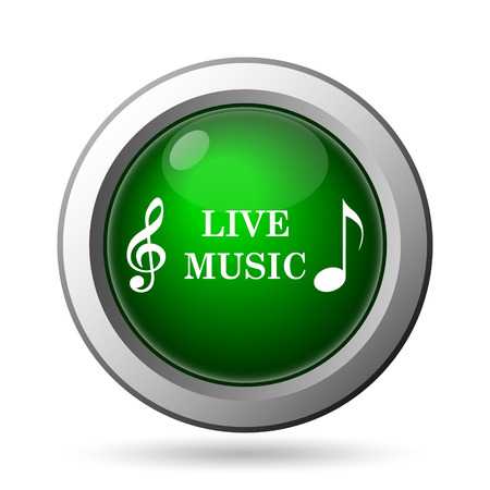 Live music icon. Internet button on white background photo