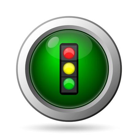 internet traffic: Traffic light icon. Internet button on white background