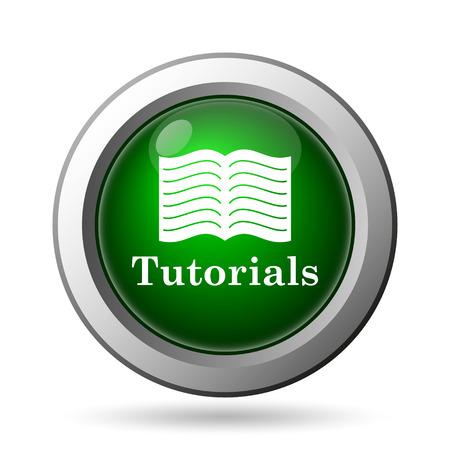 tutorials: Tutorials icon. Internet button on white background