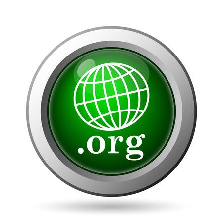 org: .org icon. Internet button on white background Stock Photo