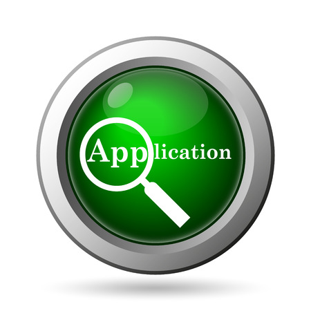requisition: Application icon. Internet button on white background Stock Photo