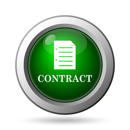 contraction: Contract icon. Internet button on white background Stock Photo