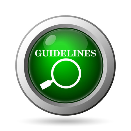 guidelines: Guidelines icon. Internet button on white background