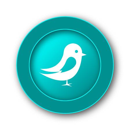 chirp: Bird icon. Internet button on white background