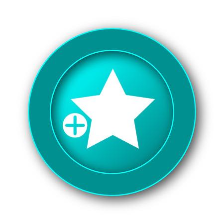 favoritos: A�adir a favoritos icono. Bot�n de internet sobre fondo blanco Foto de archivo