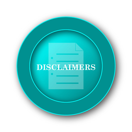 use regulation: Disclaimers icon. Internet button on white background