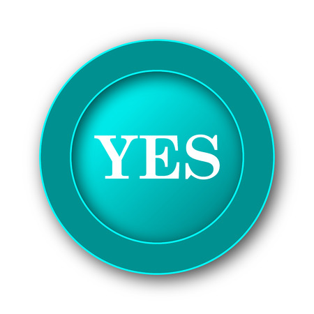 yea: Yes icon. Internet button on white background