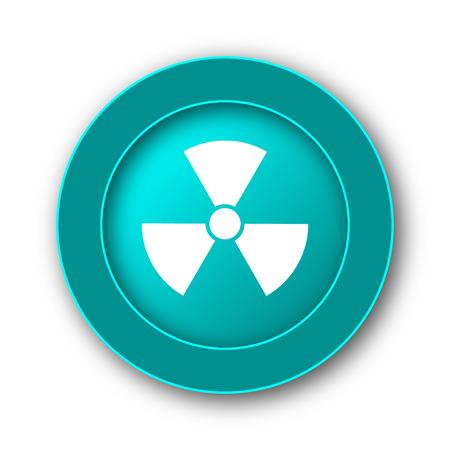 emanation: Radiation icon. Internet button on white background