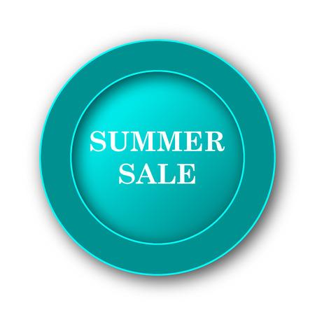 Summer sale icon. Internet button on white background photo
