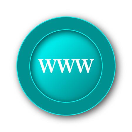 www icon: WWW icon. Internet button on white background Stock Photo
