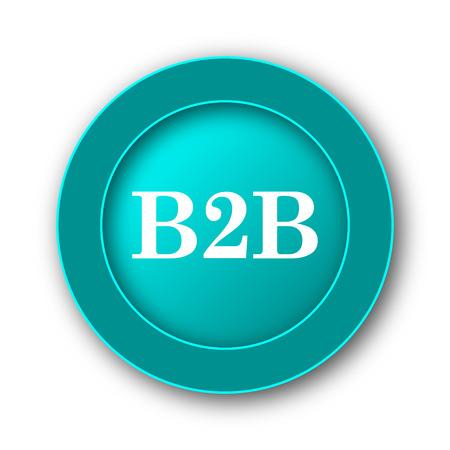 b2b: Icono de B2B. Bot�n de internet sobre fondo blanco
