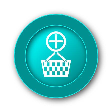 add to basket: Add to basket icon. Internet button on white background