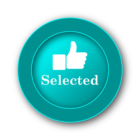 selected: Selected icon. Internet button on white background